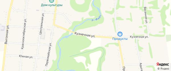 Кузнечная улица на карте Сергиевского села с номерами домов