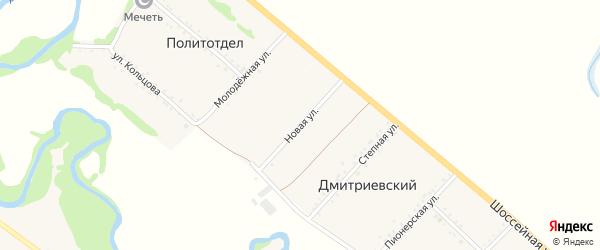 Новая улица на карте Дмитриевского хутора с номерами домов