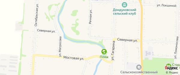 Речная улица на карте Дондуковской станицы с номерами домов