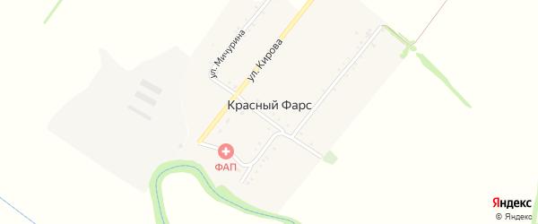 Улица Островского на карте хутора Красного Фарса с номерами домов