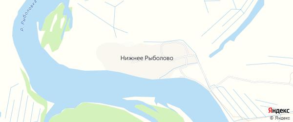 Карта деревни Нижнего Рыболова в Архангельской области с улицами и номерами домов