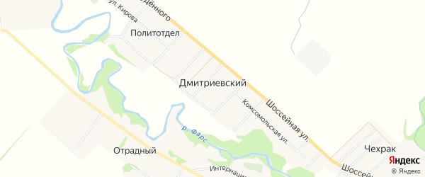 Карта Дмитриевского хутора в Адыгее с улицами и номерами домов