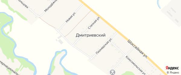 Улица Здание коровника на карте Дмитриевского хутора с номерами домов