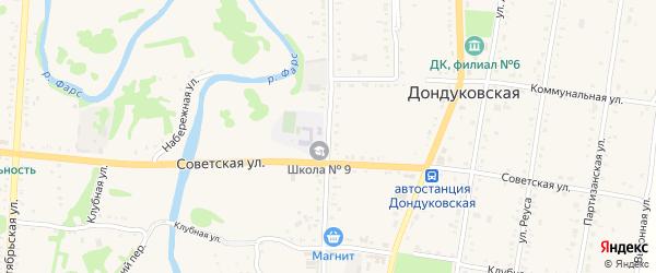 Улица Гагарина на карте Дондуковской станицы с номерами домов
