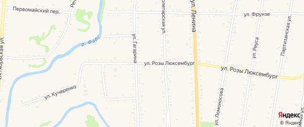 Улица Р.Люксембург на карте Дондуковской станицы с номерами домов