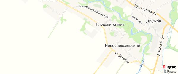 Карта поселка Плодопитомника в Адыгее с улицами и номерами домов