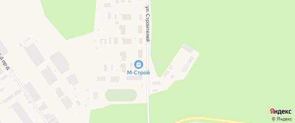 Улица Строителей на карте Мирного с номерами домов