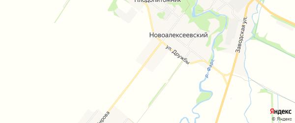Карта Новоалексеевского хутора в Адыгее с улицами и номерами домов