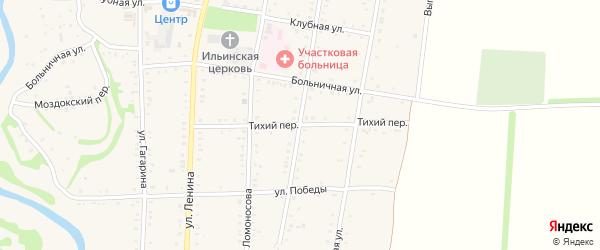 Тихий переулок на карте Дондуковской станицы с номерами домов