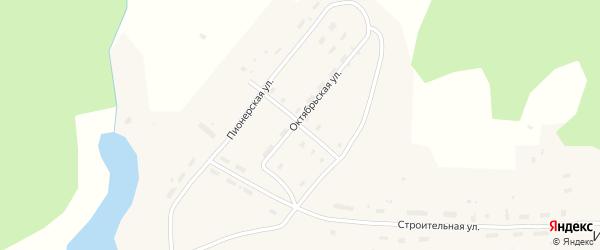 Улица Маяковского на карте поселка Ивакши с номерами домов