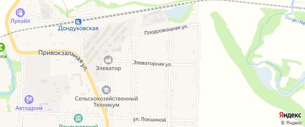 Элеваторная улица на карте Дондуковской станицы с номерами домов