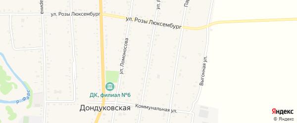 Улица Шевченко на карте Дондуковской станицы с номерами домов