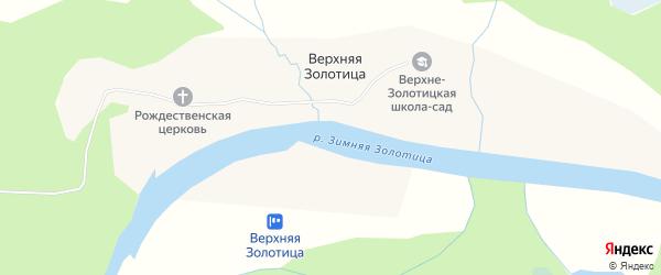 Карта деревни Верхней Золотица в Архангельской области с улицами и номерами домов