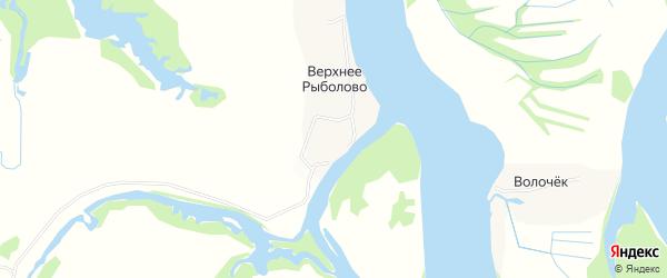 Карта деревни Верхнего Рыболова в Архангельской области с улицами и номерами домов