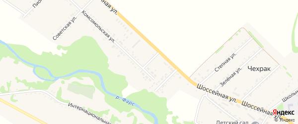 Комсомольский переулок на карте Дмитриевского хутора с номерами домов
