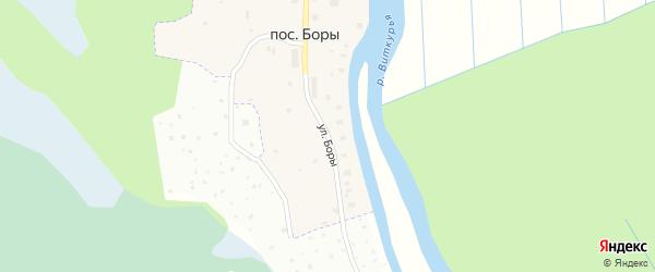 Улица Боры на карте Архангельска с номерами домов