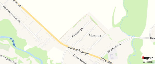 Степная улица на карте поселка Чехрака с номерами домов