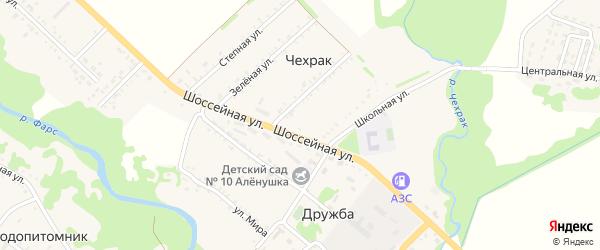 Набережная улица на карте поселка Чехрака с номерами домов