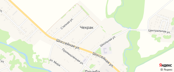 Майская улица на карте поселка Дружбы с номерами домов