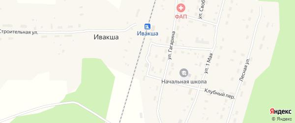 Железнодорожная улица на карте поселка Ивакши с номерами домов