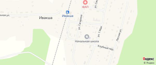 Улица Гагарина на карте поселка Ивакши с номерами домов