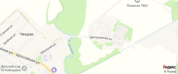 Центральная улица на карте поселка Чехрака с номерами домов