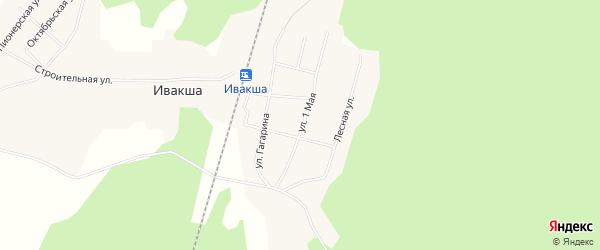 Карта поселка Ивакши в Архангельской области с улицами и номерами домов