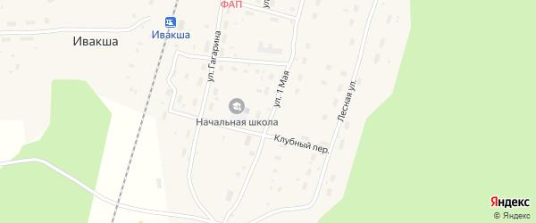 Строительный переулок на карте поселка Ивакши с номерами домов