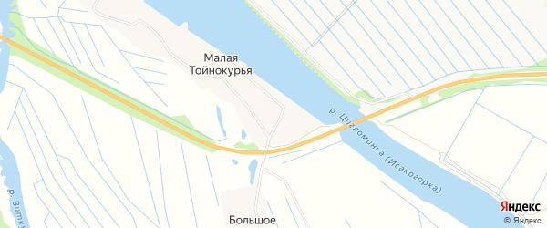 Карта Малой Тойнокурьи деревни в Архангельской области с улицами и номерами домов