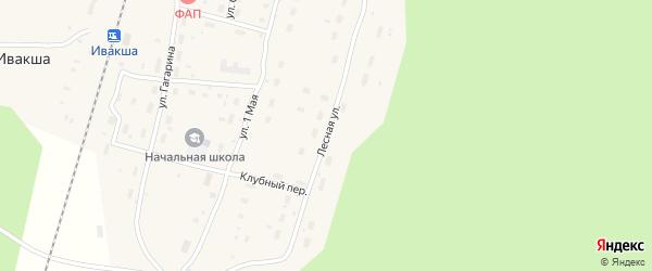 Лесная улица на карте железнодорожной станции Шожмы с номерами домов
