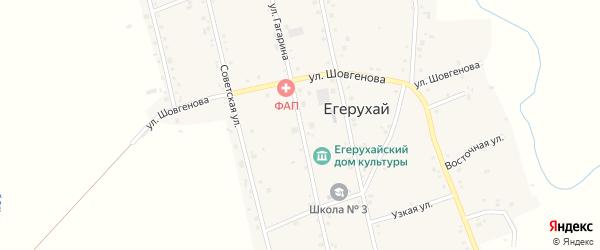 Улица Гагарина на карте аула Егерухай с номерами домов