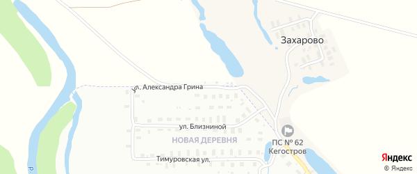 Улица Александра Грина на карте Архангельска с номерами домов