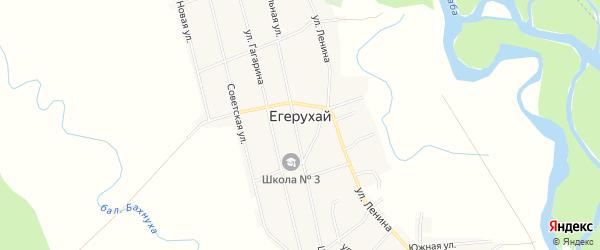 Карта аула Егерухай в Адыгее с улицами и номерами домов