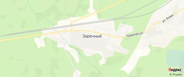 Карта железнодорожной станции Заречного в Архангельской области с улицами и номерами домов