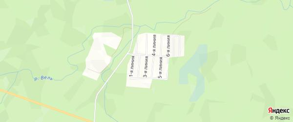 СТ СОТ Солнышко на карте поселка Бобровки с номерами домов