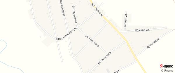 Улица Пушкина на карте аула Егерухай с номерами домов