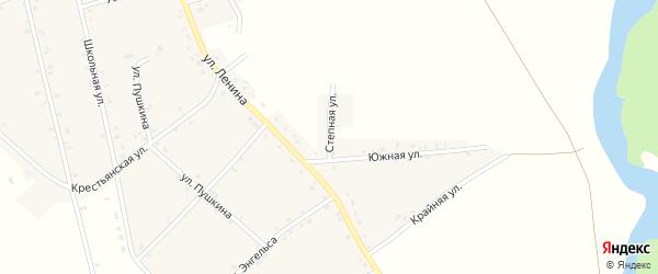 Степная улица на карте аула Егерухай с номерами домов