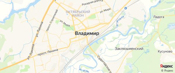 Карта Владимира с районами, улицами и номерами домов: Владимир на карте России