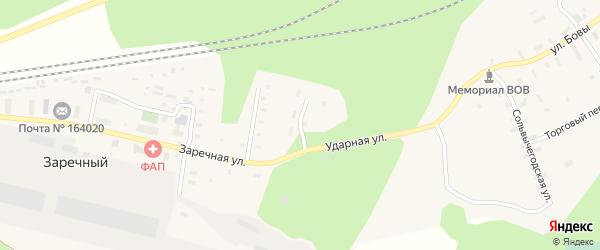 Ударная улица на карте железнодорожной станции Вересово с номерами домов