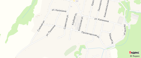 Пролетарская улица на карте Новосвободной станицы с номерами домов