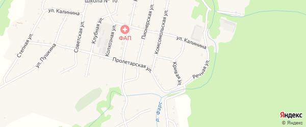 Комсомольская улица на карте Новосвободной станицы с номерами домов