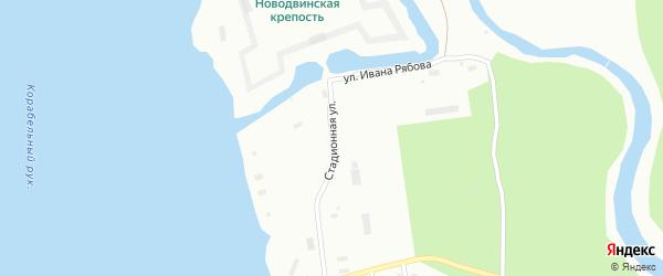 Стадионная улица на карте Архангельска с номерами домов