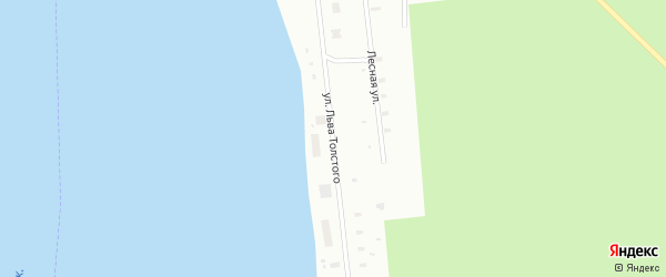 Улица Льва Толстого на карте Архангельска с номерами домов