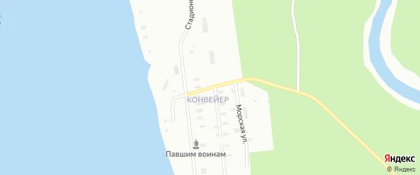 Новодвинская улица на карте Архангельска с номерами домов