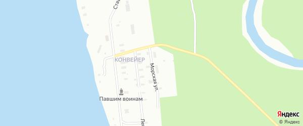 Морская улица на карте Архангельска с номерами домов