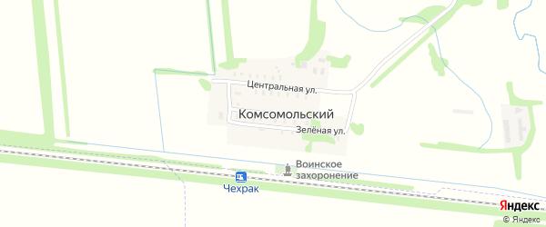Широкая улица на карте Комсомольского поселка с номерами домов