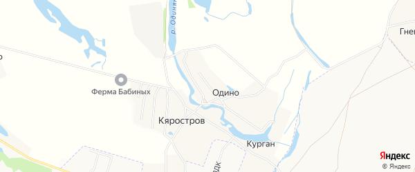 Карта деревни Одино в Архангельской области с улицами и номерами домов