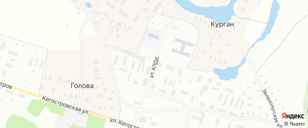 Улица КЛДК на карте Архангельска с номерами домов