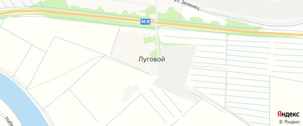 Карта Лугового поселка в Архангельской области с улицами и номерами домов