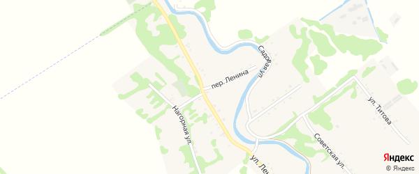 Переулок Ленина на карте Игнатьевского хутора с номерами домов